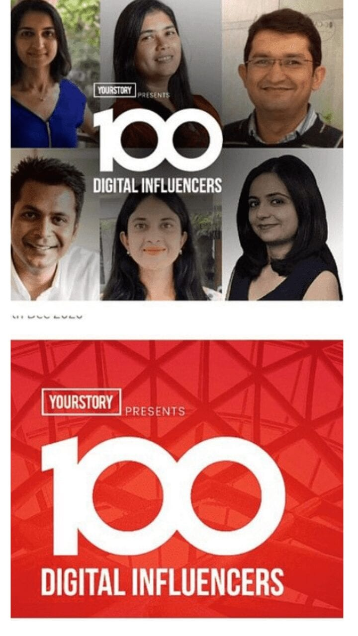 YourStory 100 influencers
